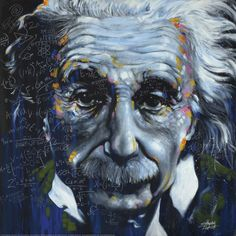 Artist Stephen Fishwick paints a beautiful representation of Einstein's 'It's all Relative.' Liven up a bare wall with this unique piece of art in your home or office. Artist: Stephen Fishwick Title: