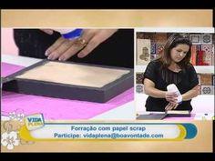 Artesanato - Técnica de forração com papel scrap