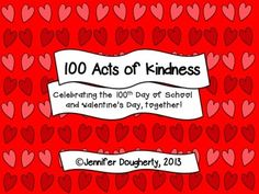 100 Acts of Kindness classroom challenge- free download