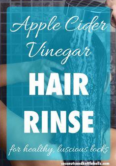Apple Cider Vinegar Hair Rinse via @CoconutsKettles