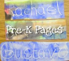 Wax Resist Name Writing: You can write and they paint to expose the hidden writing! On another day, let the child do their own writing and painting. Redo each quarter for comparison!