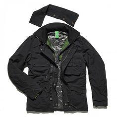 Waxed Field Coat - Jet Black