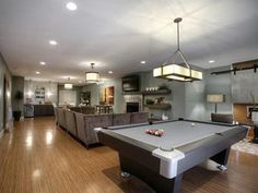 Basement Decorating Ideas | Basement Family Game Room Decorating Ideas