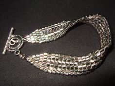 Silver Hex Herringbone bracelet by AtouchofElegance03 on Etsy, $45.00
