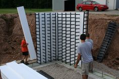 ICF Construction Project Gallery   TFSystem.Com--ICF's light enough that even kids can help with the building process