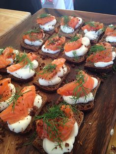 10 - Smørrebrød of Juniper-cured Smoked Salmon and Cauliflower Purée with Dill on Rye
