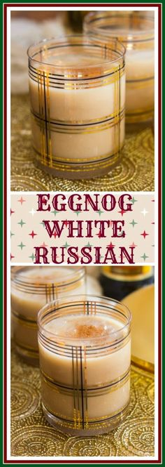 With Kahlua, vodka, and eggnog, this three-ingredient holiday boozy beverage is a delicious and intoxicating spin on a White Russian!