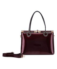 This MKF Collection Red Patent Dome Satchel by MKF Collection is perfect! #zulilyfinds