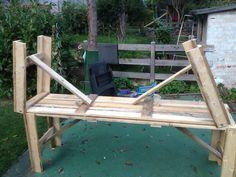 Klapptische selbst gebaut - Der Kellerwerker Outdoor Chairs, Outdoor Furniture, Outdoor Decor, Porch Swing, Garden Bridge, Outdoor Structures, Home Decor, Party, Organization
