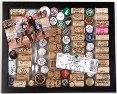Cork memory board.