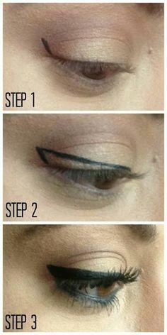 How to put on top eyeliner #eyeliner