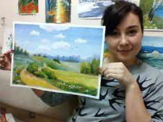 Рисуй! Онлайн урок, рисуем гуашью картину Дорога!МК Дар - YouTube