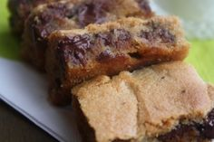 Fudgy Peanut Butter Chocolate Chip Blondies- I need these, I want these, I have to have these.