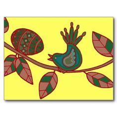 Easter Surprise Ukrainian Folk Art Postcard