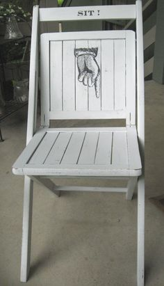 Sit! Now! #vintage #chair #painted #steampunk