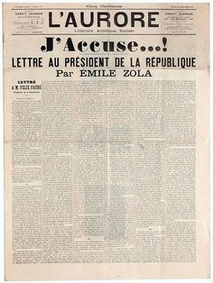 Wikipedia.org/***FRENCH-- J'accuse…!---FAMOUS NEWSPAPER EDITORIAL