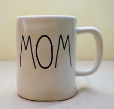 "NEW ~  ""MOM"" MUG ~ RAE DUNN ARTISAN COLLECTION by Magenta ~~ MOTHER'S DAY GIFT! #RaeDunnArtisanCollectionbyMagenta"
