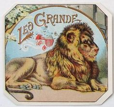 LEO GRANDE Vintage Outer Cigar Box Label 1890's
