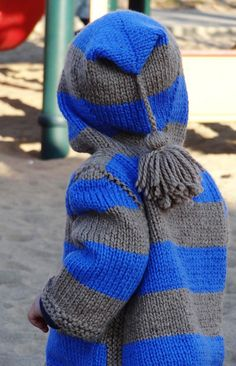 Free Knitting Pattern - Baby Sweaters: Idaho Hoodie Baby Pullover