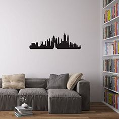 New York City Skyline Wall Art Decal by Vinyl Revolution, the perfect gift for Explore more unique gifts in our curated marketplace. Vinyl Wall Decals, Wall Stickers, Cheap Vinyl, Berlin City, Paint Types, Sit Back, Large Wall Art, Decorating Your Home, Colours