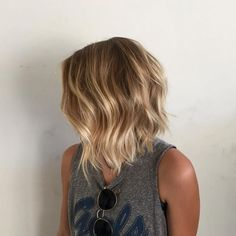 Honey Blonde Balayage Bob
