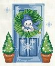 A decorated doorway for each month of the year.  Pic shown is January.