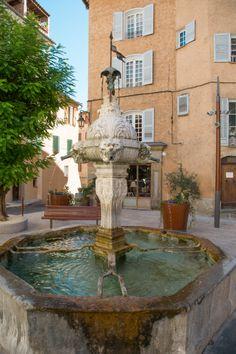 public fountain in southern village, Indoor Garden, Indoor Outdoor, Outdoor Decor, Garden Wall Art, Provence France, Succulent Terrarium, Wishing Well, Garden Paths, Landscape Architecture