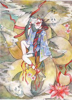 Nine tailed fox kitsune