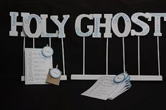 Great idea for baptism and holy ghost lessons