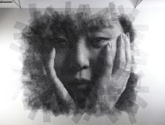 Seung-mo-park-oldskull-6 El escultor coreano Seung Mo Park  crea retratos gigantes  mediante la reducción de capa tras capa de un malla de alambre. Cada trabajo comienza con una fotografía que se superpone con capas de alambre y un proyector, a continuación, utilizando una técnica de sustracción lentamente recorta  las áreas de la malla.