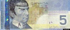 Banco do Canadá pede aos cidadãos para não desenharem mais o Spock nas notas