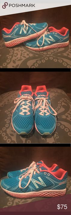 New Balance foam running shoe 8.5 women's Best running shoe ever!! Feels like walking on memory foam!! EUC!! I just have too many shoes and I have another color of these that I wear more often so I'm putting this pair up for grabs  New Balance Shoes