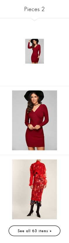"""Pieces 2"" by izzystarsparkle ❤ liked on Polyvore featuring dresses, knit dress, ribbed sweater dress, wine dress, ribbed knit dress, bodycon dress, sweater dress, wine bodycon dress, knit sweater dress and rib dress"