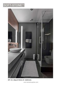 Grey Bathroom Ideas: 25 Stylish Inspirations for a Minimalist Home Grey Bathroom Ideas: 25 Stylish Inspirations for a Minimalist HomeColor is always the most important part of a room's decor which has a hug Bathroom Feature Wall, Bathroom Sink Decor, Bathroom Trends, Bathroom Layout, Bathroom Interior Design, Bathroom Renovations, Home Interior, Bathroom Ideas, Bathroom Organization