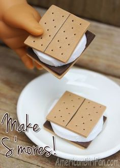 Doll Food Craft: How To Make S'mores! | AmericanGirlFan | Bloglovin'