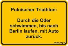 Polnischer Triathlon: Durch die Oder schwimmen, bis nach Berlin laufen, mit Auto zurück.