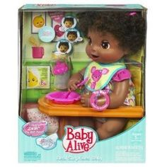 Baby Alive Real Surprises Baby Doll, African-American  - Click image twice for more info - See a larger selection of baby alive at http://zkidstoys.com/product-category/baby-alive/ - kids,baby,toddler,child,children,little girls, kids toys, little girl toys, play doll, children gift ideas,christmas,holidays.