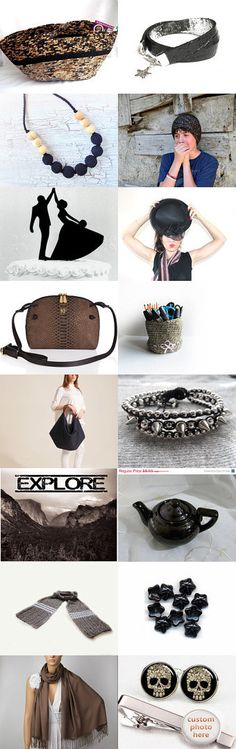 The Dark Side by Julia on Etsy--#etsy #treasury #fibernique #brown #moses #basket #black necklace #hat Pinned with TreasuryPin.com