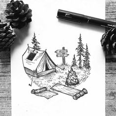 Post with 4503 votes and 159677 views. Tagged with art, creativity, dogsarethebestpeople, alotoffreackingtents, mountainsforeveryone; More of my art! Cool Art Drawings, Pencil Art Drawings, Art Drawings Sketches, Doodle Drawings, Easy Drawings, Tattoo Sketch Art, Stippling Art, Arte Sketchbook, Tattoo Zeichnungen