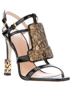 CALVIN KLEIN COLLECTION - sequin panel sandal 5