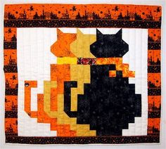 Blackberry Creek Home Arts: Book Talk   Shadow Cats quilt pattern by Georgia Bonesteel