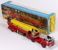 Corgi Toys 1144 American LeFrance with rare red wheels Cool Trucks, Fire Trucks, Corgi Toys, Remote Control Cars, Metal Toys, Top Toys, Childhood Toys, Diecast Models, Classic Toys