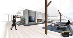 Wohnzimmer Skizze - work in progress - frieda Architecture, House, Inspiration, Interiordesign, Interior Ideas, Layout, Interiors, Drawing, Check