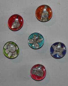 fridge magnet glass beads