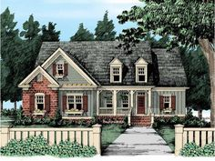 Farmhouse. I really like this one.  The floor plan is workable too I think.