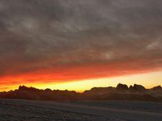 sunrise over the dolomites