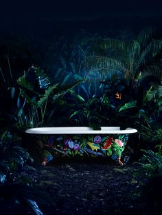 Drummonds' Spey bath with handpainted floral design - 2014 ad campaign drummonds-uk.com