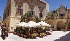 Exterior of the family-run Xara Palace in Mdina, Malta