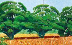Hockney - Three Trees near Thixendale, Summer 2007
