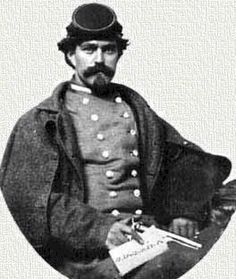 Henry Thomas Harrison, Maryland actor turned Confederate secret agent famous for informing Lee and Longstreet about Union movements before Gettysburg. He is posing in a confederate officer's uniform.